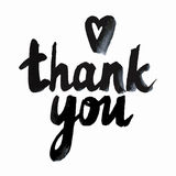 Thank You handwritten inscription. Hand drawn lettering. royalty free stock photography