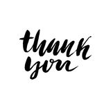 Thank You handwritten inscription. Hand drawn lettering. Thank you card. Vector illustration. Thank You handwritten inscription. Hand drawn lettering. Thanks Stock Images