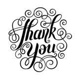 Thank you handwritten lettering inscription vector Stock Image