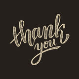 Thank you handwritten vector illustration, brush pen lettering Stock Photo