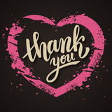 Thank you handwritten vector illustration, brush pen lettering Royalty Free Stock Image