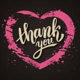 Thank you handwritten vector illustration, brush pen lettering Royalty Free Stock Image