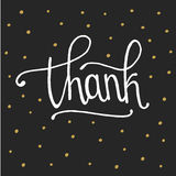 Thank you handwritten vector illustration. In white background Royalty Free Stock Photo