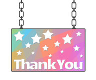 Thank You Hanged Signboard Royalty Free Stock Photography
