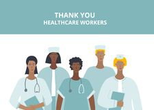 Thank you healthcare worker character illustration