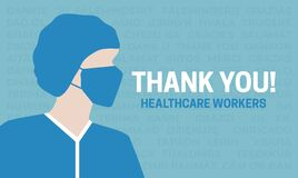 Thank You HealthCare Workers Banner Illustration