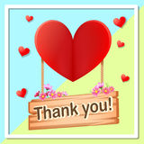 Thank you heart background. 