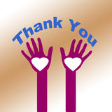 Thank You from the Heart Stock Images