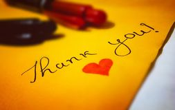 Thank You! Heart Text Royalty Free Stock Photo