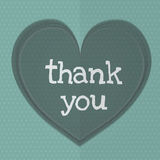 Thank you with heart Stock Photos