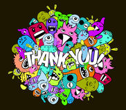 Thank you hipster colorful background Stock Images