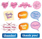 Thank You Icons. A Thank You and Thanks icon set stock illustration