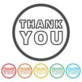 Thank you icons set vector illustration