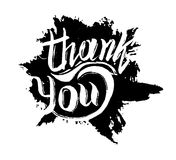 Thank you ink hand drawn lettering Royalty Free Stock Photo