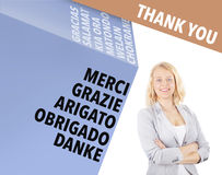 Thank you - international business concept Stock Image