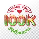 Thank you 100k followers Stock Image