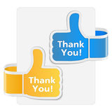 Thank You Labels Stock Images