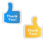Thank You Labels Royalty Free Stock Photo