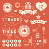 Thank You Labels and Badges typography design Stock Images