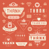Thank You Labels and Badges typography design Royalty Free Stock Image