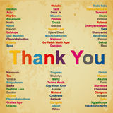 Thank you in 74 languages ​​in the world background Stock Photo