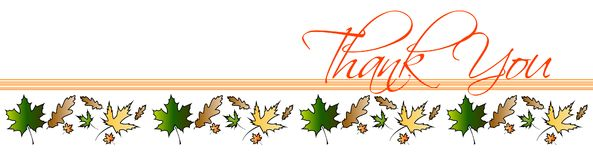 Thank You Leaves Card Royalty Free Stock Photography