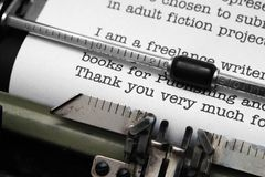 Thank you letter Royalty Free Stock Photography