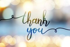 Free Thank You Lettering Stock Image - 102011881