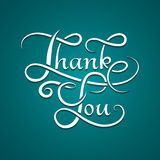 Thank you lettering calligraphy Royalty Free Stock Photography
