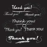 Thank you lettering. Royalty Free Stock Image