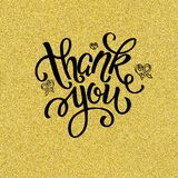 Thank you, lettering.  Design for greeting card, invitation, poster flyer. Thank you, lettering Stock Image