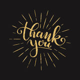 Thank you lettering for greeting card Royalty Free Stock Photo