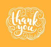 Thank you lettering for greeting card Royalty Free Stock Photography