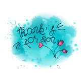 THANK YOU lettering vector illustration