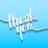 Thank you lettering. Hand written Thank you poster. Modern hand Stock Image