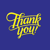 THANK YOU LETTERING Stock Images