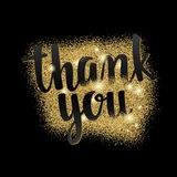 Thank you. Lettering handwritten brush calligraphy for social media contests and special offer. Royalty Free Stock Images