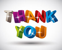 Thank you lettering. Stock Images