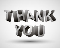Thank you. Thank you lettering made with 3d letters isolated on white background, vector Stock Photos