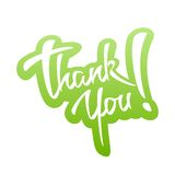 Thank You lettering Sticker Royalty Free Stock Photography