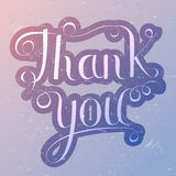 Thank you lettering  trendy colors Stock Image