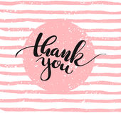 Thank you. Lettering. Vector illustration Royalty Free Stock Image