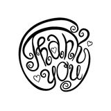 Thank you lettering Stock Image