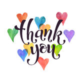 Thank you lettering stock illustration