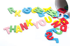 Thank you letters Royalty Free Stock Images