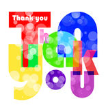 Thank you letters for you design Stock Image