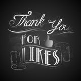 Thank you for Likes Royalty Free Stock Photo