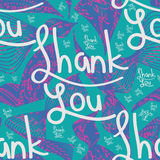 Thank you line seamless pattern Royalty Free Stock Photography