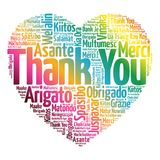 Thank You Love Heart Word Cloud Royalty Free Stock Photography