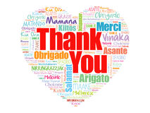 Thank You Love Heart Word Cloud Royalty Free Stock Images